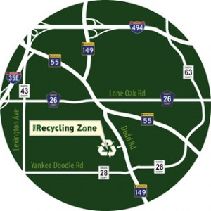 recycling zone map
