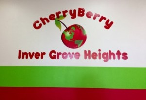 Sign for the Inver Grove Heights CherryBerry store
