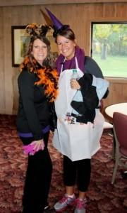 Eagle Ridge staff Ginny and Coty dressed in costume for the Twin Cities Kidney Walk