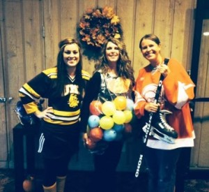 Our leasing staff, Kelsey, GInny, and Coty in Halloween costumes.