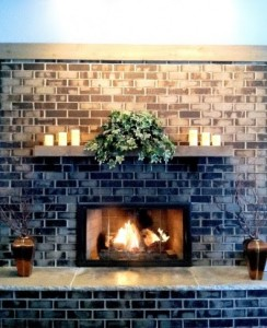 party room fireplace