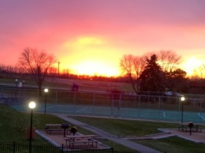 Sunset at Lexington Heights Apartments