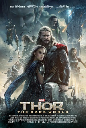 Promotional poster for the movie Thor: The Dark World