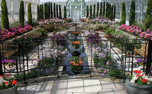 Sunken Garden at the Marjorie McNeely Conservatory.
