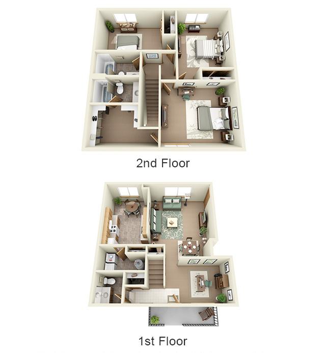 3 Bedroom, 2.5 Bathroom