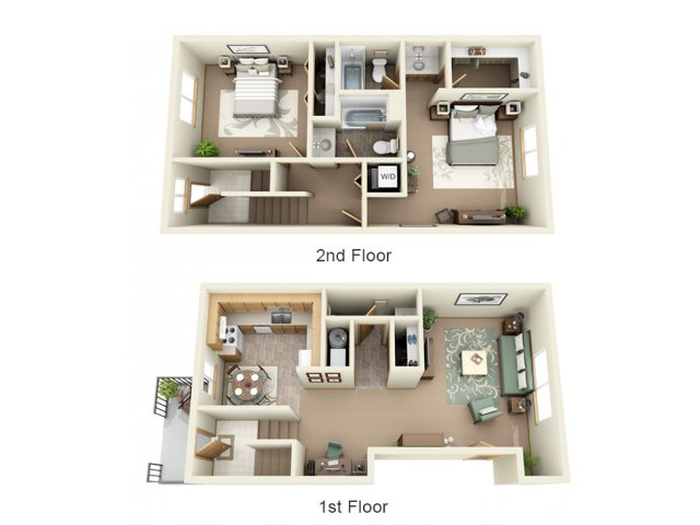 2 Bedroom, 2.5 Bathroom